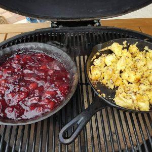 Chilis szilvamártásos császármorzsa a grillről - Grill-Ázs