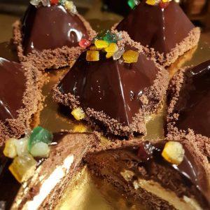 Narancsos-tonkababos-étcsokoládés piramis - Grill-Ázs