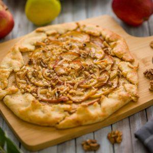 Kovászos almás galette